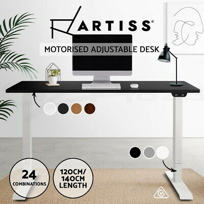 AU376.95 • Buy Artiss Standing Desk Height Adjustable Motorised Electric Sit Stand Table Riser