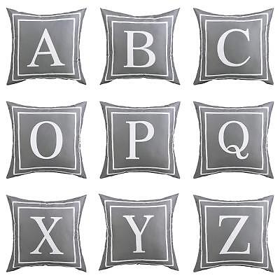 Gray English Letter Throw Pillow Case Cushion Cover Home Car Decor Gift Faddish • 5.39£