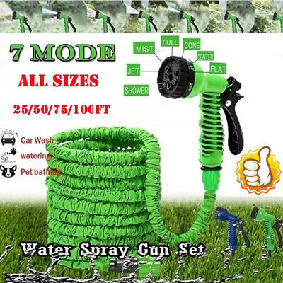 50 100 200 Expandable Flexible Heavy Duty Garden Magic Water  Hose Pipe Spray~ • 12.46£
