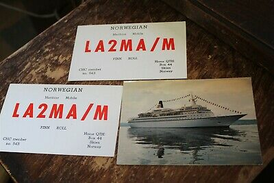 $ CDN7.61 • Buy Qsl Card - 3 Norway Maritime Mobile Cards 1960's 70's