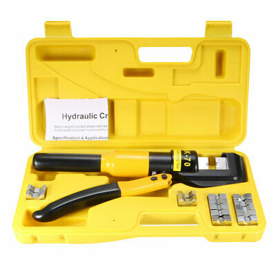 $ CDN66.71 • Buy 6 Ton Hydraulic Wire Cable Lug Terminal Crimpers Crimping Tool 9 Dies YQK-70