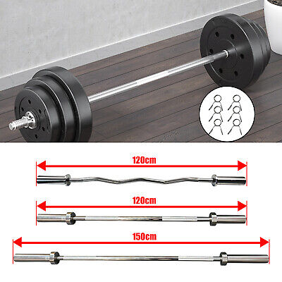 5ft Olympic Barbell Squat Bench Deadlift Up To 250kg 2  Bar 2 Spring Collars G • 69.99£