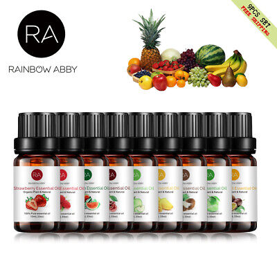 AU39.99 • Buy 9 Pack 10ml Fruit Cherry Essential Oils For Aromatherapy Diffuser Fragrance AU