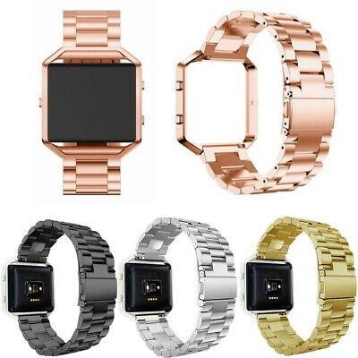 AU16.37 • Buy For Fitbit Blaze Watch Stainless Steel Loop Strap Wrist Band+ Frame Replacement