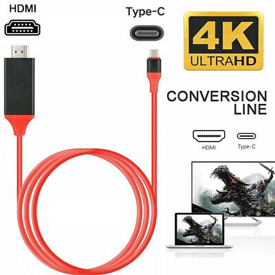 AU11.39 • Buy MHL USB Type C To HDMI TV HDTV Cable Converter Adapter For Macbook Android Phone
