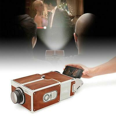 Smart Phone Mobile DIY Projector Portable Home Wall Cinema TV Screen For IPhone • 8.89£