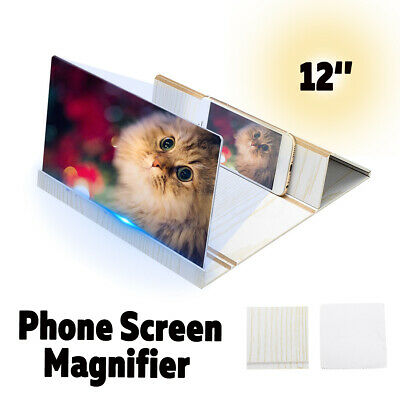AU22.34 • Buy 12'' Magnifier Mobile HD Screen Stand Bracket Amplifier For Smartphone      AU