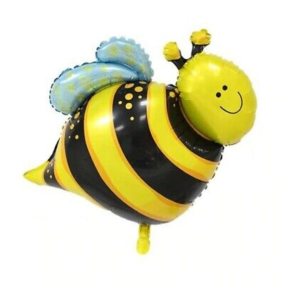 £3.49 • Buy 5pcs Mini Cartoon Bumble Bee Air Fill Foil Balloon Birthday Party Bag Decoration