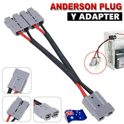 AU22.88 • Buy Anderson Style Plug 50 Amp Connector Double Y Adaptor 6mm Twin Auto Cable AU