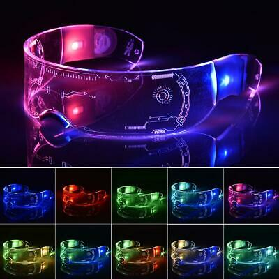 7Color LED Visor Glasses Lumious Neon Nightlife Light Up Goggles Party Halloween • 8.98£