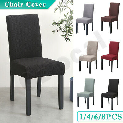 AU42.99 • Buy 1-8PCS Stretch Chair Cover Washable Removable Slipcover Banquet Furniture Covers