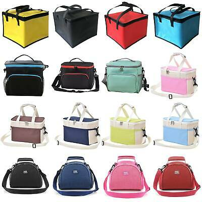 Thermal Insulated Lunch Bag Cool Picnic Box Case Food Storage Strap Box Portable • 5.89£