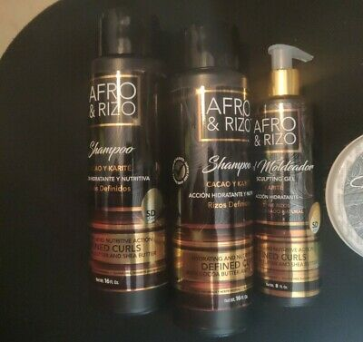 £54.32 • Buy Afro & Rizo Hair Care COMBO-STYLING 2 SHAMPOO , STYLING CREAM & SCULPTING-GEL