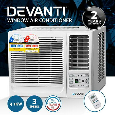 AU439.90 • Buy Devanti Window Air Conditioner Reverse Cycle 4.1kW Wall Cooler Fan Heater Summer