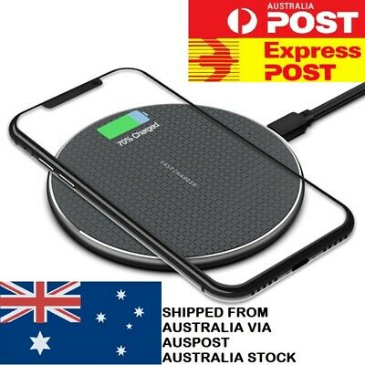 AU10.95 • Buy 10W Qi Wireless Charger FAST Charging Pad For IPhone 11 XS XR 8 Samsung S10 S20