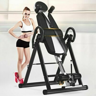 £124.91 • Buy Foldable Gravity Inversion Table Back Therapy Folding Fitness Inverter Machine