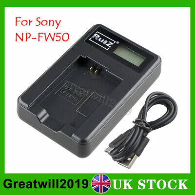 Camera Battery Charger For Sony NP-FW50 NEX5 NEX7 SLT-A55  RX10 II A5000 A6000 • 9.99£