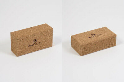 2 Pack Yoga & Pilates Brick Standard Lightweight Eco Friendly 100% Natural Cork  • 20.75£