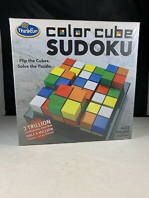 Thinkfun Color Cube Sudoku Puzzle Game-single Player Ages 8 To Adult • 9.19£