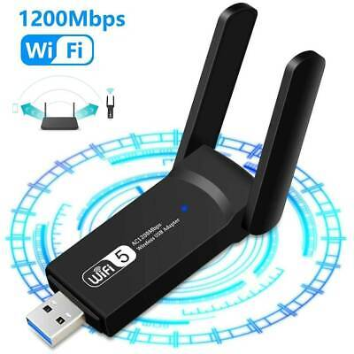 1200Mbps Wireless WiFi Adapter USB 3.0 Dongle Dual Band 5G/2.4GHZ W / Antenna • 9.87£