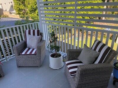 AU549 • Buy Beautiful Wicker Outdoor Setting With Cushions