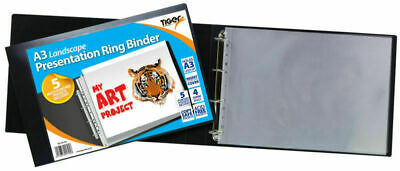 6 X A3 Landscape Presentation Ringbinders - Ring Binder Art Potfolio File Folder • 144.99£