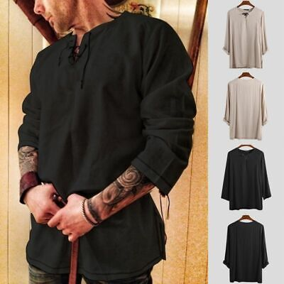 Medieval Costume Cosplay Knight Tunic Vintage Carnival Viking Pirate Jackets • 8.48£