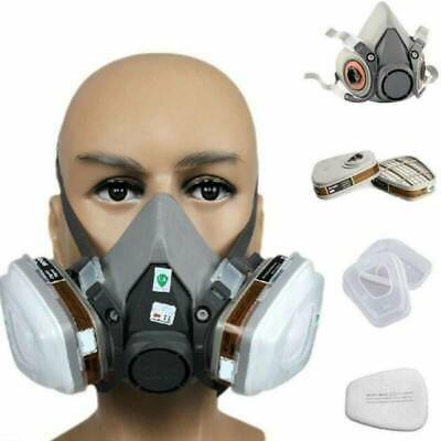 AU19.58 • Buy 7 IN 1 Half Face Mask For 6200/ 7502 Gas Painting Spray Protection Respirator AU
