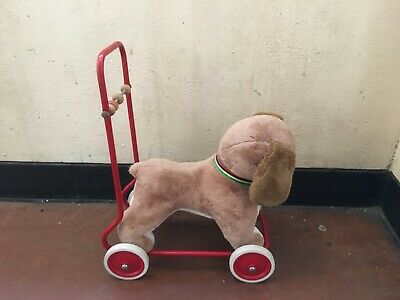 Lovely Vintage DEAN'S Push Along Dog Toy On Wheels - Great Condition • 55£