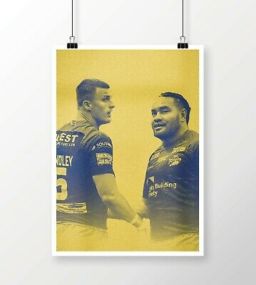 Leeds Rhinos Ash Handley And Konrad Hurrell Poster Print • 8.99£
