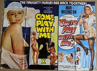 Come Play With Me / Come Play With Me 2 1977/80 Original UK Quad Poster • 30.16£