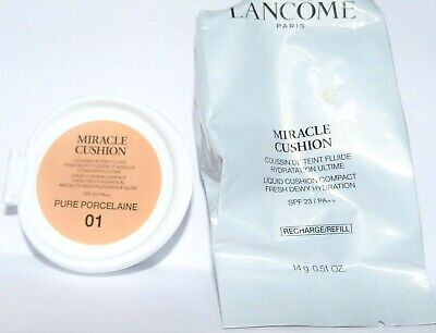 Lancome Miracle Cushion Liquid Cusion Compact 01 Pure Porcelaine New • 19.96£