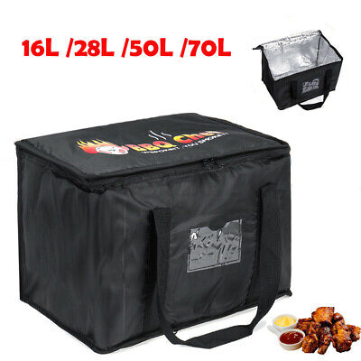 Food Delivery Insulated Bags Pizza Takeaway Thermal Warm/Cold Bag Ruck 4 Sizes • 12.99£