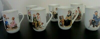 $ CDN26.36 • Buy  NORMAN ROCKWELL COFFEE MUGS SET OF 7 - Gold Rimmed