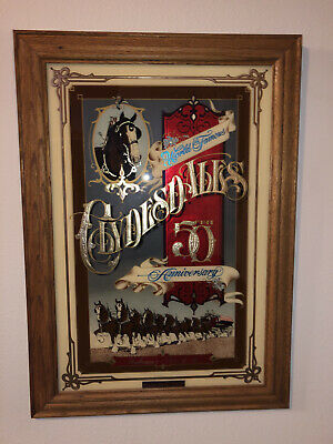 $ CDN563.12 • Buy Clydesdale 50th Anniversary Mirror Sign Picture Limited Edition #1677