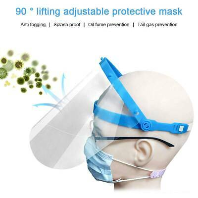 Face Shield Full Visor Protection PPE Shield Mask Transparent Clear Plastic YEE • 4.19£