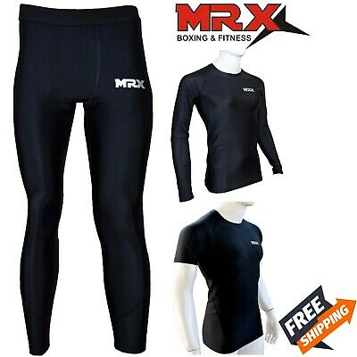 £16.98 • Buy MRX Compression Base Layer Long Shirt Tops Pants Running Training Workout GYM