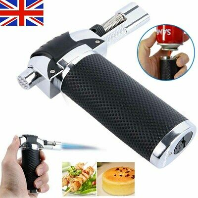 Refillable Butane Gas Micro Blow Torch Lighter Cooking & Baking Kitchen Craft UK • 8.39£