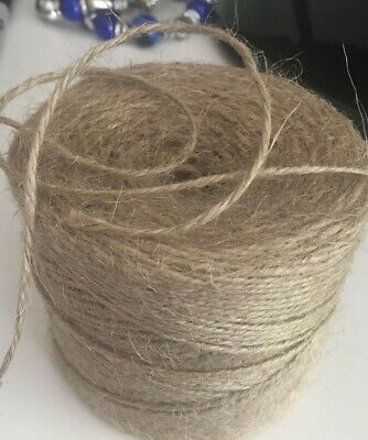 10m Metre Natural Brown Rustic Style Twine String Craft Jute Shabby Cord (d) • 0.99£