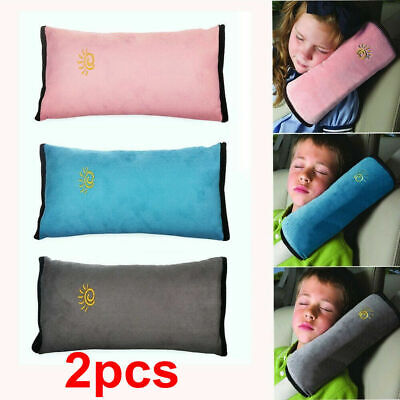 2X Car Safety Seat Belt Pillow Shoulder Strap Pad Cushions Head Supports Kids • 6.86£