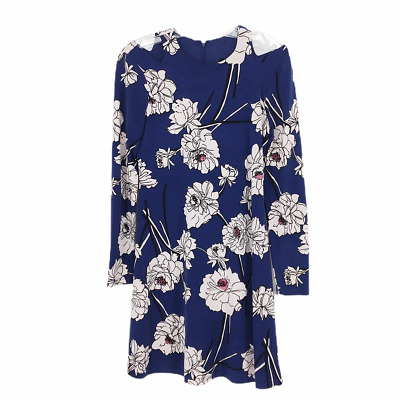 $ CDN16.48 • Buy Ivanka Trump Womens Blue Multi Floral Printed Cold-Shoulder Dress Size XS
