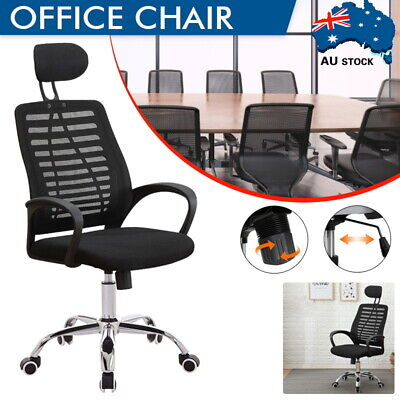 AU72 • Buy High Back Office Chair Ergonomic Gaming Chair Mesh Executive Computer Chairs AU