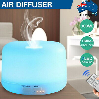 AU19.99 • Buy 300-500ML Aromatherapy Diffuser Essential Oil Ultrasonic Air Humidifier Purifier