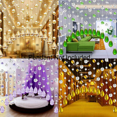 Wo_ String Door Window Curtain Beads Divider Crystal Tassel Fringe Beaded Panel  • 2.75£