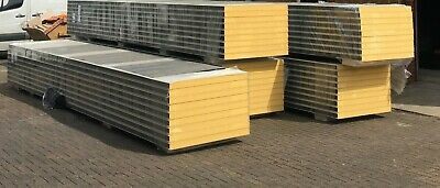 £192 • Buy Cold Room Smooth Insulated Panels,1000mm Width- 6000mm Length- 80mm Thickness