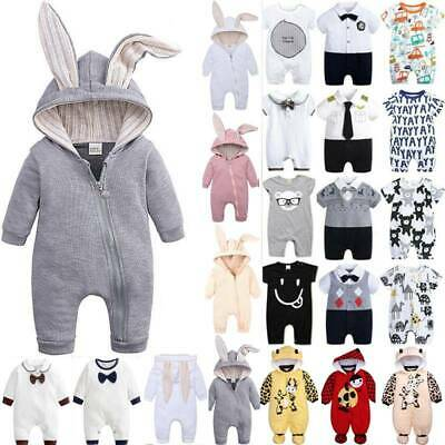 Newborn Baby Toddler Boys Girls Kids Romper Jumpsuit Clothes Bodysuit Outfits • 13.86£