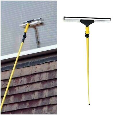 3.5M Extendable Telescopic Window Cleaning Pole Glass Squeegee Cleaner Tool Kit • 17.89£