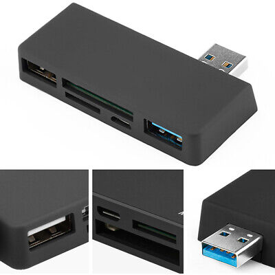 AU13.41 • Buy Adapter TF USB 3.0 Multifunctional HUB Card Reader ABS For Microsoft Surface Pro