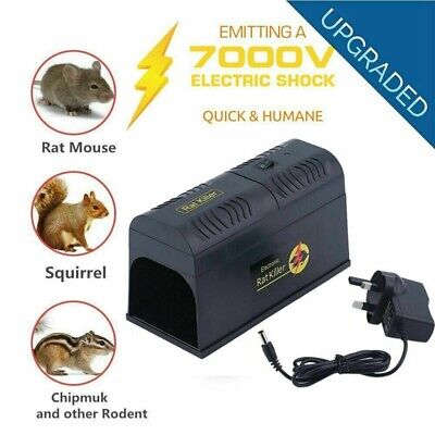 Mouse Trap Electronic Mice Killer Rat Pest Control Electric Zapper Rodent • 19.98£