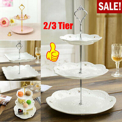2/3 Tier Cake Plate Stand Cupcake Fittings Wedding Party Parts Kit Accessory Use • 2.09£